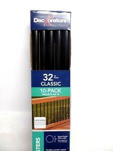 """Deckorators (BLACK) Classic Round 32"""" Aluminum Deck Baluster 10 pack"""