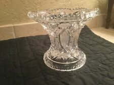 Vintage Pressed Glass Punch Bowl Pedestal Stand base Beatiful EXC