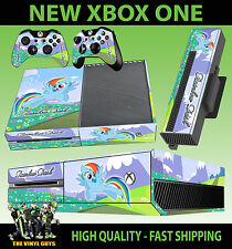 XBOX ONE Console AUTOCOLLANT RAINBOW DASH My Little Pony Skin & 2 Pad Stickers