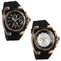 Mens Casual Quartz Analog Wrist Watch Black Faux Leather Band Sports Watches