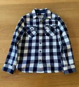 Zadig And Voltaire Boys Navy White Check Shirt, Sz 8