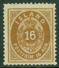 EDW1949SELL : ICELAND 1876 Scott #12 Very Fine, Mint No Gum Catalog $175.00.