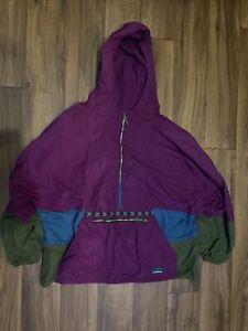 vtg 90s LL BEAN windbreaker pullover anorak jacket Medium colorblock usa