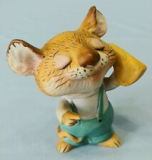 Vintage Homco Porcelain Figurine Mouse With Cheese No. 5601
