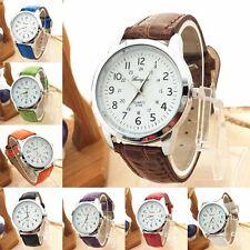 Vogue Male Elegant Analog Luxury Sports Leather Strap Quartz Wrist Watch Cheap
