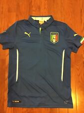 Used Puma Italy Soccer Jersey Youth L Large