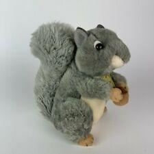 "Aurora Miyoni Gray Squirrel with Nut 8"" Soft Plush Stuffed Animal Toy"