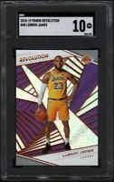 2018 Panini Revolution #40 LeBRON JAMES Los Angeles Lakers SGC 10 GEM MINT