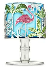 BATH BODY WORKS TROPICAL FLAMINGO 3 THREE WICK CANDLE HOLDER PEDESTAL NEW X1