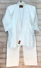 Tengu Martial Arts Uniform Gi White Heavy Weight Competition Adult Size 5
