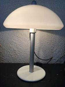 Harvey IGuzzini Vintage Table Lamp Mid Century Light Italian Design Mushroom UFO