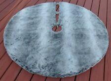 Pottery Barn Gray Ombre Faux Fur Christmas Tree Skirt