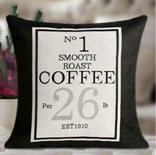 "Cathy Bome Black 17"" Cushions No.3 Special Blend Tea / No.1 Smooth Roast Coffee"