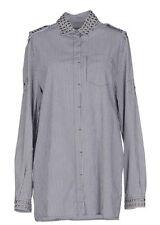 $ 390 Pierre Balmain Women's  Striped Studded  Shirt Size Us 12  NWT Italy