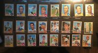 1968 TOPPS HIGH #'S 100 CARD (ALMOST COMPLETE LOT) #458-598  **SUPER SHARP**