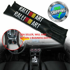 JDM 2x Black Car Seat Cover seam Pu Leather for ralliart ALL CARS