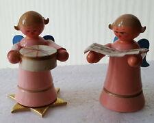 2 kleine alte Engel aus dem Erzgebirge W31