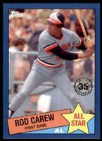 2020 Topps Series 2 1985 All Stars Blue #85AS-35 Rod Carew - Minnesota Twins