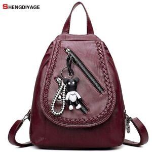 SHENGDIYAGE mochila Women Backpacks dos a sac Bags Casual Girl Backpack leather