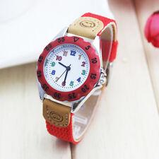 6 colors Fashion & Casual Quartz Wristwatches Round Dial Nylon Band Child Gift