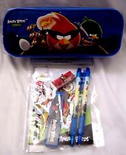 Angry Birds and Friends Blue Pencil Case Pouch and Angry Birds Stationary Set