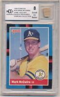 1988 DonRuss #256 Mark McGwire Game-Used Bat Oakland A's Hidden Treasures