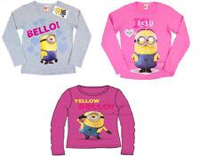 Magliette e maglie rosa a manica lunga con girocollo per bambine dai 2 ai 16 anni