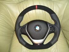EXTREM TUNING Lederlenkrad  BMW F20 F21 F30 F31 F34  UNTEN  ABGEFLACHT Alcantara