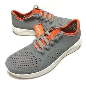 Crocs Literide Pacer Mens Size 13 Walking Shoes 204967 Gray Comfort New