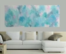 1500 Modern Charcoal Taupe Mint Original Painting Abstract Canvas Painting Art