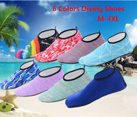 Men Women Skin Water Shoes Aqua Beach Socks Yoga Exercise Pool Swim Slip GW