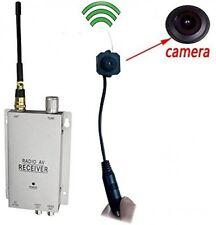 Podofo® Wireless Security Camera With Receiver Spy Pinhole Micro Cam Complete