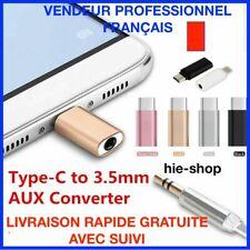 Mini Type C à Audio USB C USB 3.1 à 3.5mm AUX Jack Adaptateur
