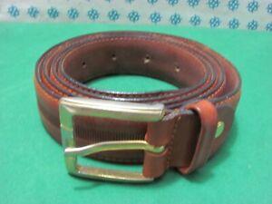 Vintage -  anni 90 Cintura Uomo vera pelle , Cm 128x3  fibia compresa - 2