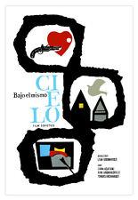 Cuban movie Poster for soviet film  Under the same SKY.Bajo el mismo cielo.Art.