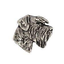 Schnauzer(head), silver covered pin, high qauality Art Dog CA