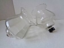 "2 CLEAR GLASS PEG CANDLE HOLDER APPROXIMAELY 5 1/2"" TALL x 5 WIDE"