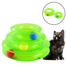 Intelligenzspielzeug Katzenspielzeug Katzen Spielring Training Ball Toll Grün GD