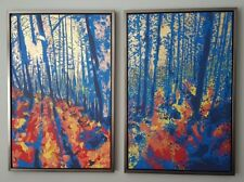 Original Art By Sean Wales Forest Of Dean Painting x 2