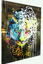 Leopard lion cat Framed Print Canvas painting wall artwork modern abstract