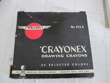 Vintage Crayonex Drawing Crayons 24 Prang 322X American Crayon Co Sandusky OH NY