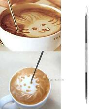 Stainless Steel Coffee Drawing Art Pen Barista Espresso Cappuccino Fancy Needle
