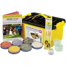 Snazaroo Mini Starter FACE PAINT Kit (Paints 300+ Faces) Make Up/Guide/Sponges+