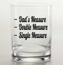 DAD'S MEASURE X2 vinyl decal whisky glass sticker Father's Day DIY