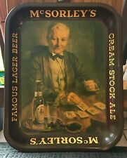 New listing Rare Vintage 1930'S Mcsorley'S Ale Tin Litho Beer Tray Fidelio Brg New York Ny