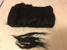 2oz Black  Flax /Linen roving. Flax in tops. Linen fiber. Combed flax.