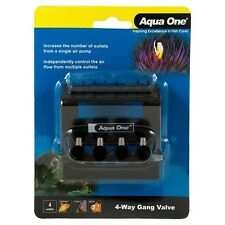 Aqua One 4-WAY GANG VALVE Independently Control Air Flow *Australian Brand