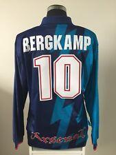 BERGKAMP #10 Arsenal Long Sleeve Away Football Shirt Jersey 1995/96 (XL)