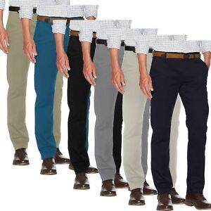 New Men Ex-M&S Chino Summer 100% Cotton Regular Straight Leg Pants Trouser Jeans