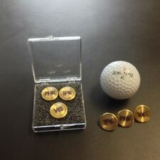 Personalized Brass Golf Ball Markers (3 markers)
